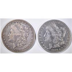 1884-S & 96-O MORGAN DOLLARS FINE