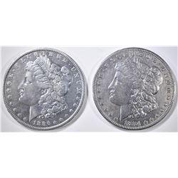 1884-S VF & 86-O XF MORGAN DOLLARS
