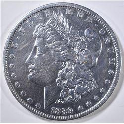 1889-O MORGAN DOLLAR AU