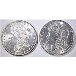 1884 & 1896 MORGAN DOLLARS CH BU