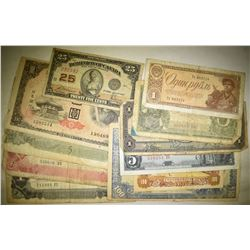 MIXED FOREIGN CURRENCY 12 PIECES