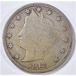 1912-S LIBERTY HEAD NICKEL FINE