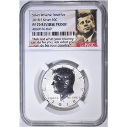2018-S SILVER KENNEDY NGC PF 70