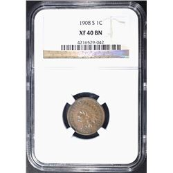 1908-S INDIAN CENT NGC XF-40