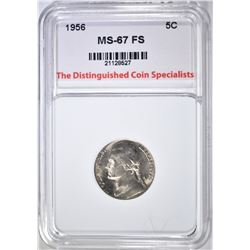 1956 JEFFERSON NICKEL, TDCS SUPERB GEM BU FS