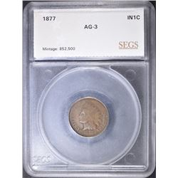 1877 INDIAN HEAD CENT  SEGS AG