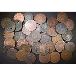 LOT OF LARGE US  CENTS