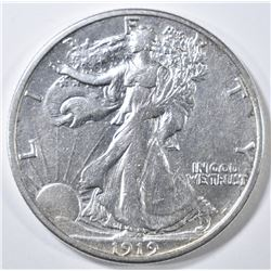 1919-S WALKING LIBERTY HALF DOLLAR  AU