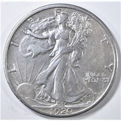 1920-S WALKING LIBERTY HALF DOLLAR XF/AU