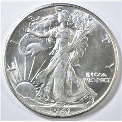 1941-S WALKING LIBERTY HALF DOLLAR  GEM BU