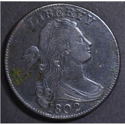 1802 LARGE CENT   XF  SOME CORROSION