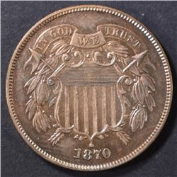 1870 2 CENT PIECE  CH/GEM BU RB