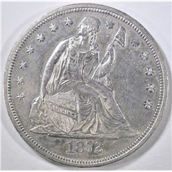 1872 SEATED DOLLAR AU/BU