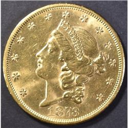 1873-S $20 GOLD LIBERTY CH/BU / GEM BU