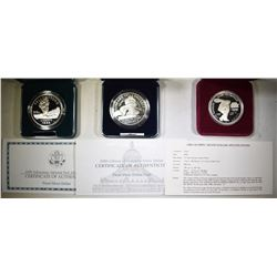 MODERN U.S. PROOF COMMEM SILVER DOLLARS
