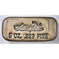 FIVE OUNCE POURED .999 SILVER BAR-SILVERTOWNE