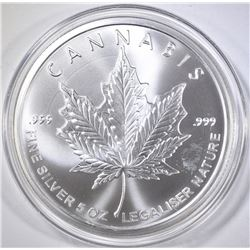 2015 LEGALIZE 5-OUNCE .999 SILVER ROUND