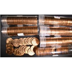 6-ROLLS BU 1954-S LINCOLN CENTS