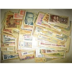 200+ RANDOMLY SELECTED PIECES FOREIGN CURRENCY