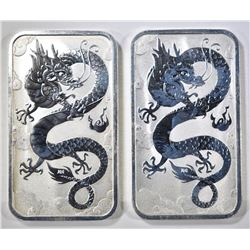 2-2019 1oz SILVER RECTANGULAR DRAGON COINS