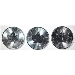 3-2019 1oz SILVER CANADIAN MAPLE LEAF COINS