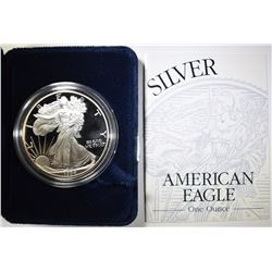 1994 PROOF AMERICAN SILVER EAGLE ORIG BOX/COA
