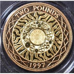 1997 UK 2 POUNDS GOLD COIN 14.63 GRAM AGW