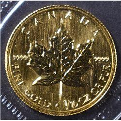 1998 1/10 oz CANADA GOLD MAPLE LEAF .9999 FINE