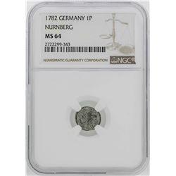 1782 Germany Nurnberg Pfennig Coin NGC MS64