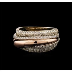 0.88 ctw Diamond Ring - 14KT Two-Tone Gold