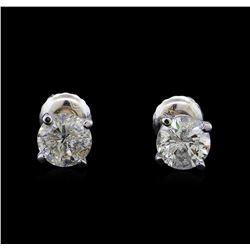 1.41 ctw Diamond Stud Earrings - 14KT White Gold