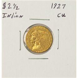 1927 $2 1/2 Indian Head Quarter Eagle Gold Coin