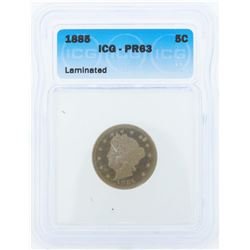 1885 Liberty Head Proof Nickel Coin ICG PR63 Laminated