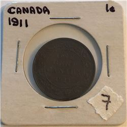 Very Nice 1911 Canada Large Cent in a Old Holder