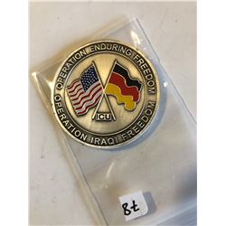RARE Challage Coin ARMY Presented by a GENERAL OPERATION IRAQI FREEDOM
