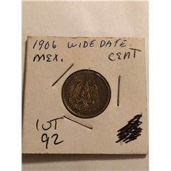 Rare 1906 Mexico Wide Date Cent