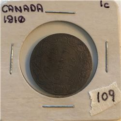 Very Nice 1910 Canada Large Cent in a Old Holder