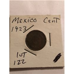 1923 Mexico 1 Cent Nice Early Coin