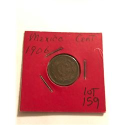1906 Mexico 1 Cent Nice Early Coin