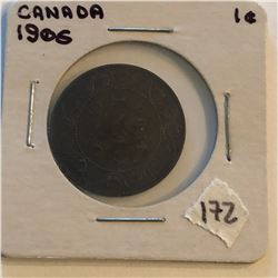 Very Nice 1906 Canada Large Cent in a Old Holder