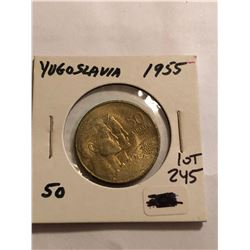 1955 Yugoslavia 50 Dollars Coin in High Grade