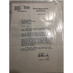 Extremely Rare January 1968 Signed Robert F Kennedy Letter with Original Envelope