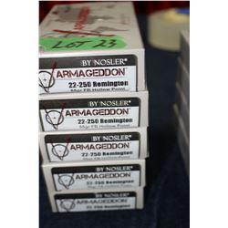 Varmageddon Nosler 22-250 Remington (5 Boxes)