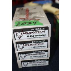Varmageddon Nosler 22-250 Remington (4 Boxes)