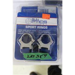 """Sun Optics 1"""" Med STD Sport Rings (5)"""