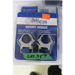 "Sun Optics 1"" Med STD Sport Rings (5)"