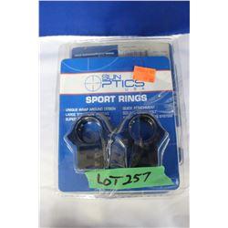 Sun Optics 30mm & .22 Sport Rings (5)