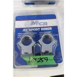 Sun Optics .22 Sport Rings & 1 Set of Weaver Tactical Scope Mounts