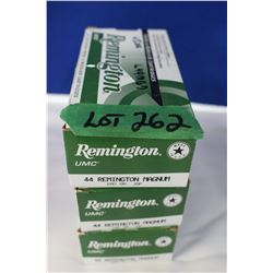 3 Boxes of Remington 44 Rem Mag