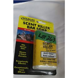 2 Bars of Scent Killer Bar Soap